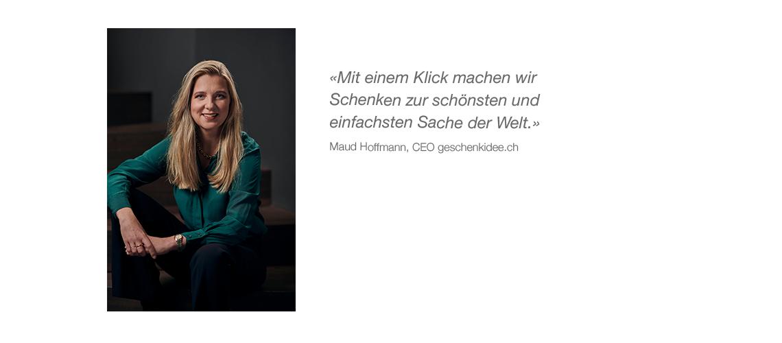 Über uns - Zitat Maud Hoffmann