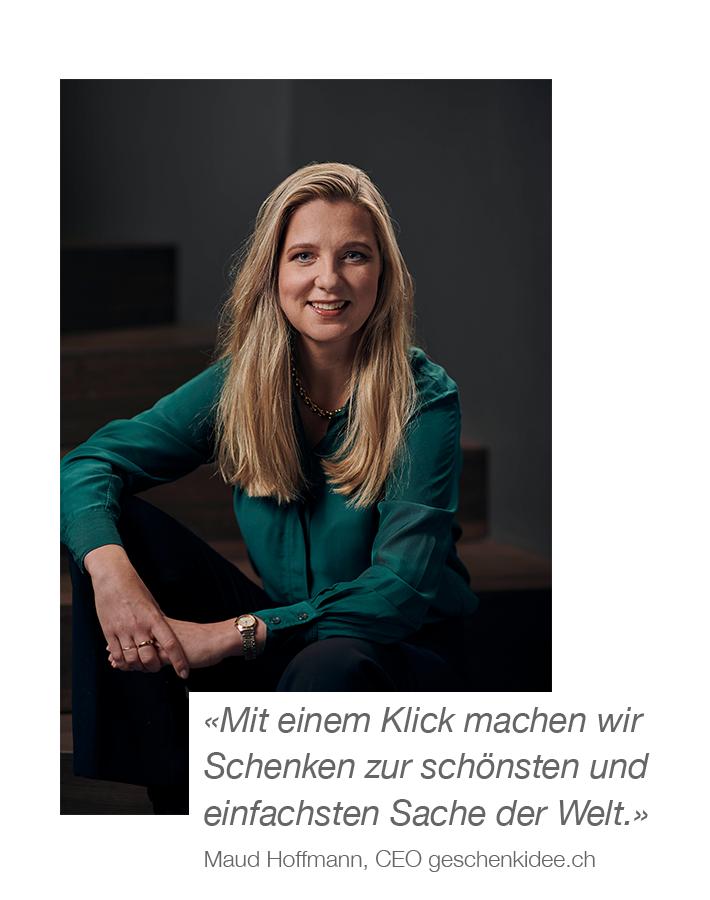 Über uns mobile Ansicht - Zitat Maud Hoffmann