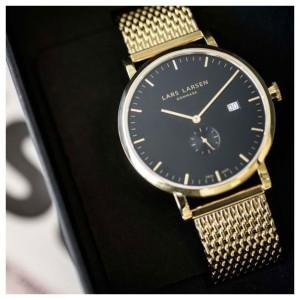 lars-larsen-armbanduhr-unisex-gold-plated-mesh-41mm