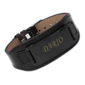 personalisierbares-armband-leder-schwarz