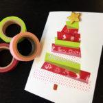 Weihnachtskarte mit dekorativem Klebeband