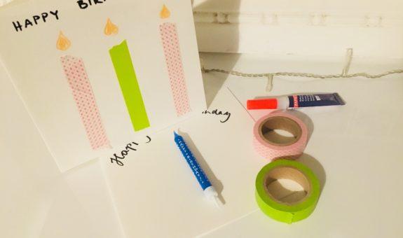 DIY Geburtstagskarten - 3 einfache Ideen zum selber basteln