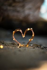 Heart-shapped ligts with romantic flair.