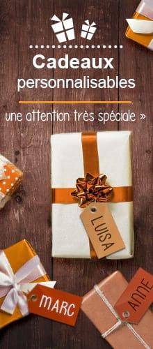 Idées de cadeaux personnalisables