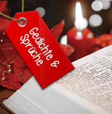 Gedichte und Sprüche für deine Weihnachtskarten