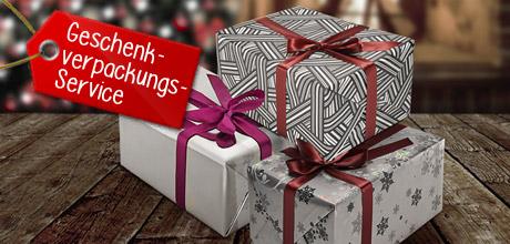 Lass dein Geschenk von uns einpacken und wähle zwischen 3 verschiedenen Verpackungen.