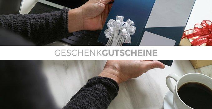 <p>Geschenkgutscheine -</p> <p>die perfekte Geschenkidee für jedermann.</p>