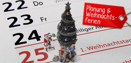 Plane deine Weihnachtsferien voraus
