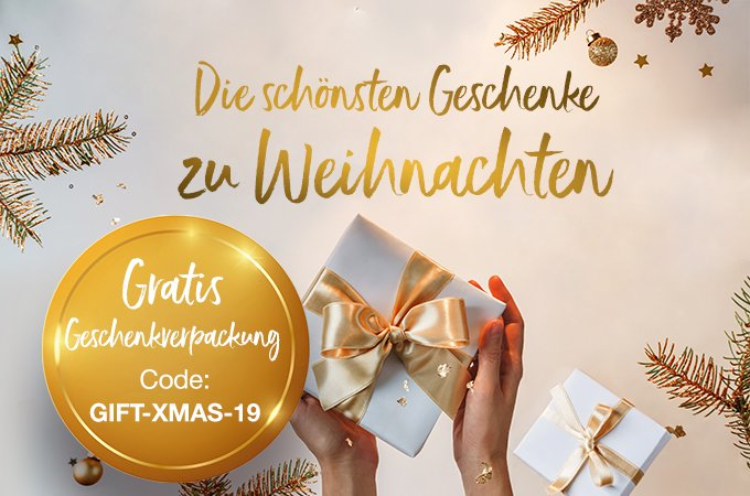 Die schönsten Weihnachtsgeschenke - jetzt gratis verpacken lassen!