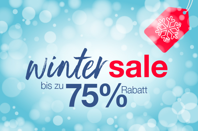 Winter Sale - Bis zu 75% Rabatt!