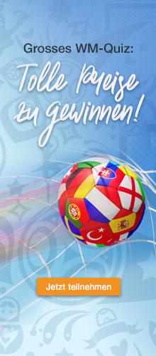 Das grosse geschenkidee.ch-WM-Quiz: Teilnehmen und tolle Preise gewinnen!