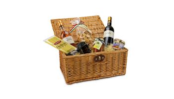 Geschenkkorb individuell zusammengestellt für den Kunden
