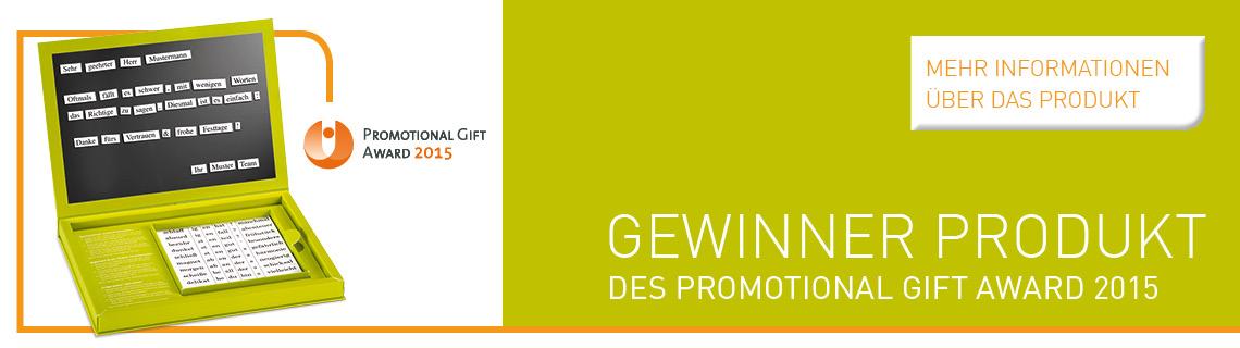 Produktflyer Gift Award 2015